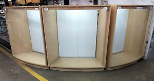 Curved Glass Display Cases Lighted Tuba Guitar