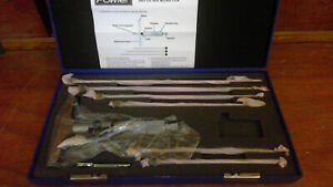 Fowler 0 6 Depth Micrometer 4 Base Dial Readout With Case