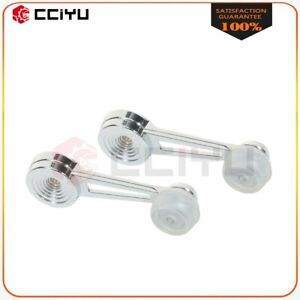 2pc Set Chrome Interior Window Crank Handle Left Right For Ford Pickup Truck