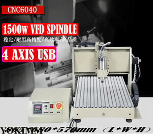 4 Axis Cnc 6040z Engraving Drilling Machine 1500w 3d Cutter Engraver Usb Router