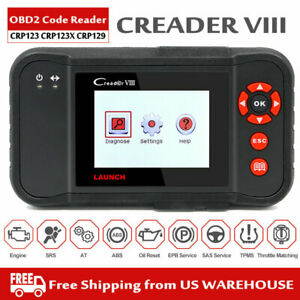 X431 Crp123 Obd2 Diagnostic Tool Auto Scanner Engine Transmission Abs Srs