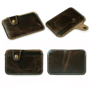 Small Genuine Leather Business Card Holder Name Card Case Credit Card Wallet New