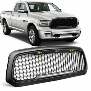 For 2013 2018 Dodge Ram 1500 Front Grille Abs Honeycomb Bumper Grill Re