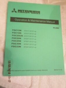 Mitsubishi Forklift Trucks Operation Maintenance Service Manual Fc mc Factory