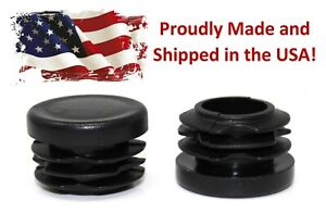 Black 1 Round Tubing Plastic Hole Plug End Cap 1 Inch Od Tube Pipe Cover