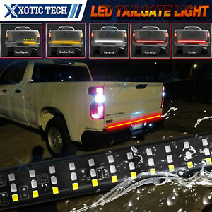 5 Funtions 60 Led Strip Tailgate Light Bar For Chevy Silverado 1500 2500 3500
