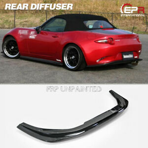 For Mazda Mx5 Miata Roadster Nd Frp Unpainted Cs Style Rear Bumper Diffuser Lip