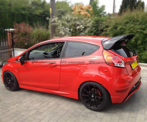 For Ford Fiesta St Facelift Rs Style Carbon Fiber Rear Roof Spoiler Wing Parts