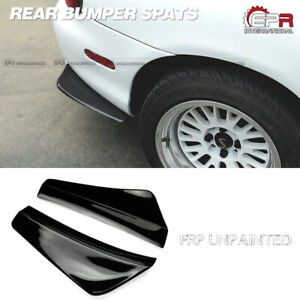 2pcs Rear Bumper Spat Canards Diffuser Kits For Mazda Mx5 Miata Nb Frp Parts