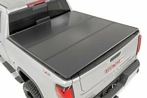 Rough Country Hard Tri Fold Fits 2019 2020 Chevy Silverado Sierra 5 8 Ft Bed