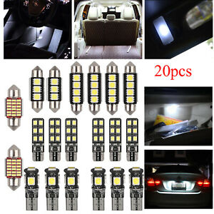 20pcs White Festoon Bulbs Led Interior Map Dome Trunk Light 211 2 212 2 578 Us