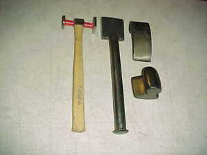 Vtg Auto Body Long Dolly Spoon Dinging Hammer Other Dollies Shop Tools