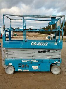 2014 Genie Gs 2632 26 Electric Scissor Lift Aerial Manlift Platform 24v