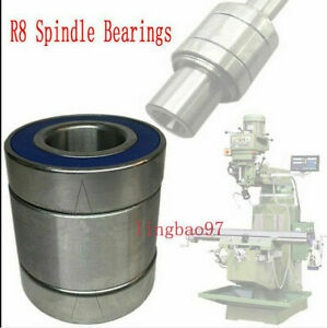 1set 4pcs Milling Machine Parts R8 Spindle Bearings Assembly For Bridgeport
