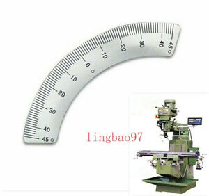 Milling Machine Parts 45 Degree Angle Plate Micrometer Scale For Bridgeport