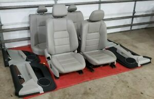 Mercedes W204 C300 Complete Heated Leather Seat Seats Cushion Door Panels Oem