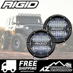 Rigid Industries 360 Series 4 In Round Led Light Bar White Sae Flood Pair 36110