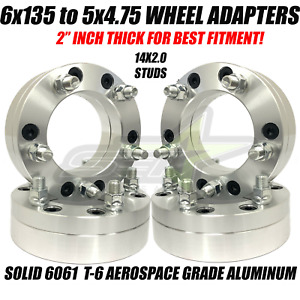 6x135 To 5x4 75 Hubcentric Wheel Adapters 2 Ford 6 Lug To 5 Lug Chevy Wheels