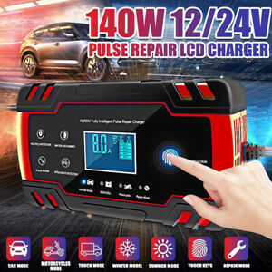 Lcd Car Atv 12 24v 6 150ah Motorcycle Pulse Repair Battery Charger Agm Automatic