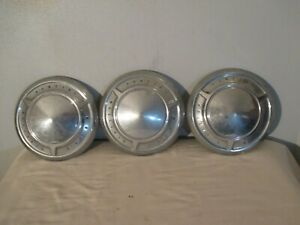 1961 66 Pontiac Poverty Hub Caps 9700635 Catalina Ventura 10 Dog Dish Poverty