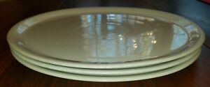 Set Of 3 Saturnia Napoli 12 25 White Pizza Plate Made In Italy