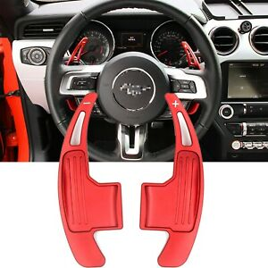 For Ford Mustang 2015 2019 Steering Wheel Shift Paddle Shifter Extension Red