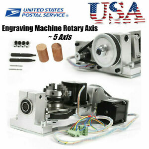 Engraving Machine Cnc 5th Axis Rotary Axis Chuck Table For Diy Cnc Router Usa