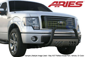 Aries Textured Black Ss 3in Bull Bar With Skid Plate For Nissan Titan Xd 16 19