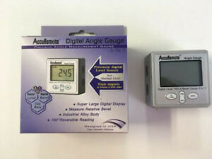 Accuremote Angle Cube Digital Angle Protractor Inclinometer Electronic Gauge