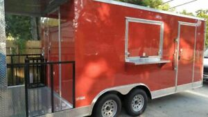 New 8 5 X 20 Freedom Food Concession Trailer With A 4 Porch For Sale In Flori