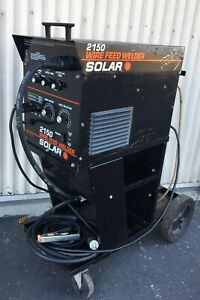 Mig Welder Solar 2150 Wire Feed Welder With Cart Built In 120v Made In Usa