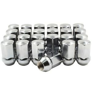 24pc Gm Factory Style Lug Nut M14x1 5 Kit chrome 1 77 Long 7 8 Hex