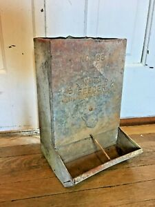 Vintage No 88 Sanitary Pig Feeder Nelson Sioux Rapids Galvanized Metal Farm