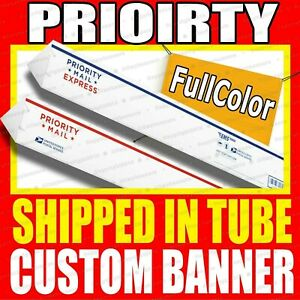 4 X 10 Custom Vinyl Banner 13oz Full Color Free Basic Design Included Rolled