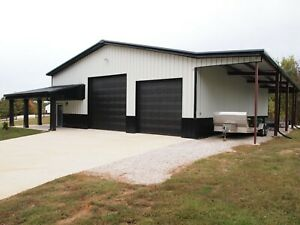 Simpson Steel Garage 40x75x12 Garage Storage Barn Kit Shop Metal Building