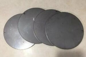 3 8 375 Thick X 4 7 8 Diameter Round Steel Plates Circles Target 4 Pieces
