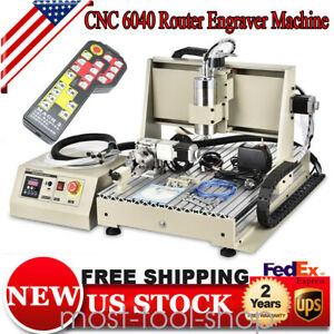 4axis Usb Cnc Router 6040 Engraver Wood Drill Mill Machine handwheel 1 5kw Usa