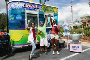 Well kept 2015 5 X 12 Snowie Shaved Ice Concession Trailer Snowball Stand