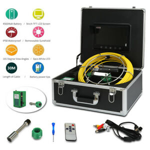 9 Lcd 30m Pipe Inspection 1000 Tvl Camera Led Waterproof Drain Pipe Sewer