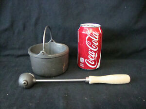 Reloading Equipment Bullet Casting Lead Dipper Ladle & Cast Iron Melting Pot