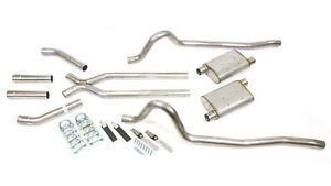 Pypes 67 73 Mopar A body 2 5 Exhaust X pipe System Street Pro Duster Barracuda