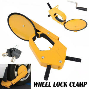 Iron Wheel Tire Boot Lock Clamp Claw For Car Rv Boat Truck Trailer Anti Theft Us