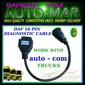 Daf Truck Diagnostic Cable 16 Pin Connector Autocom Delphi Wurth Eclipse