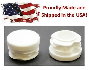 White 1 Round Tubing Plastic Hole Plug End Cap 1 Inch Od Tube Pipe Cover