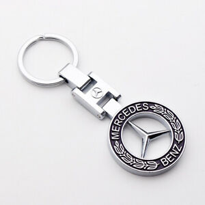 3d Mercedes Benz Amg Sport Logo Alloy Car Home Keychain Ring Decoration Gift