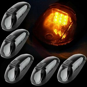 5x Amber Led Cab Marker Roof Light Covers For Dodge Ram 2500 3500 4500