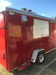 2003 Postmate 7 X 12 Food Concession Trailer mobile Kitchen Unit For Sale In G