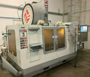 2009 Haas Vf3ss Apc 4 axis Hrt210 40 1 Atc Probing Low Hours Pallet Changer