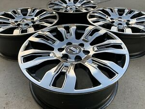 20 Nissan Titan Xd Black Chrome 6x5 5 Oem Factory Stock Wheels Rims Pro4x