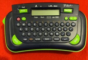 Brother P touch Model Pt 80 Label Maker And Printer Machine Navyblue Green Works